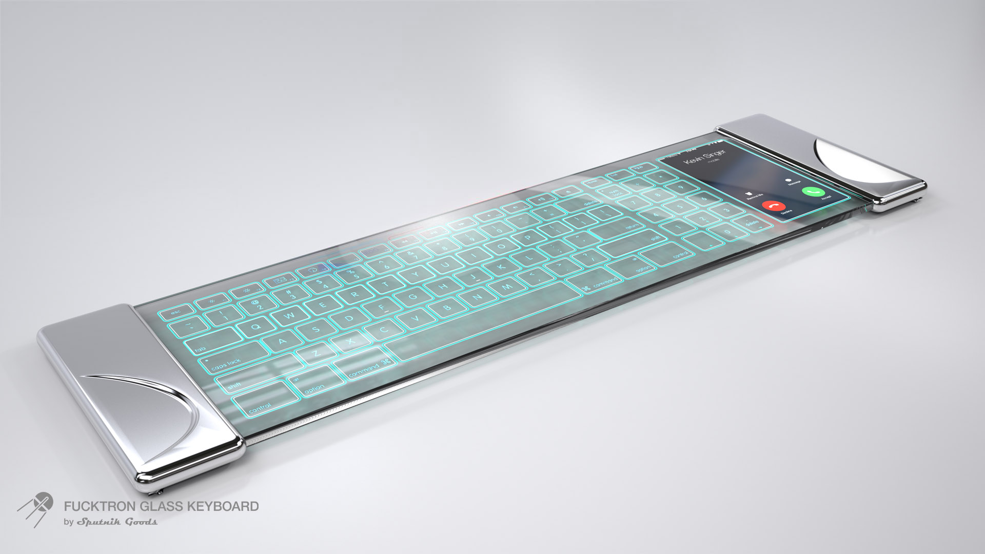 Fucktron Glass Keyboard - Portfolio of Sputnik Goods Inc